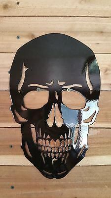 12 Metal Skull Wall Decor (affiliate) OMG this is what I Skull Wall Art, Skull Artwork, Skull Decor, Metal Artwork, Metal Wall Art, Skull Drawings, Art En Acier, Plasma Cutter Art, Sculpture Metal