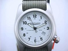 Bertucci Watch With Titanium Case Lithium Caprili Stone Dial And Drab Nylon Watch Band - www.NoesJewelry.com