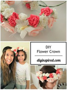 DIY Flower Crown Headband for Both Adults and Kids  #ad @papermart