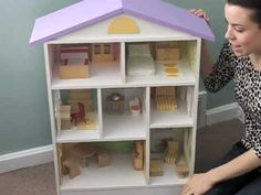 DIY DOLLHOUSE.mov Make the furniture and decor with simple craft supplies, fabric scraps, and scrap book paper. Easy, cheap and cute!