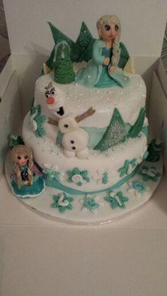 Bespoke celebration and wedding cakes by Amanda ,Frozen cake :)