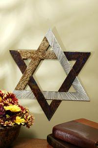 "8"" Jeweled Steel Star of David with Cross $55.00 http://www.celebrateyourfaith.com/8-quot-Jeweled-Steel-Star-of--P4947C139.cfm"