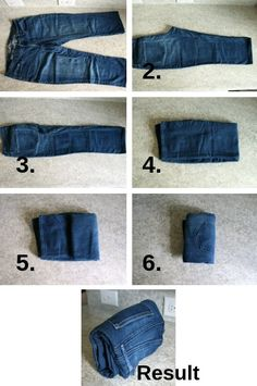 Learn how to use the KonMari method of organizing clothes to keep your closets and drawers neat and tidy! organization The KonMari Method: Organizing Clothes Jean Organization, Clothes Drawer Organization, Wardrobe Organisation, Organization Ideas, Konmari Methode, Folding Jeans, Organizar Closet, Closet Hacks, Cleaning Closet