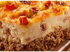 Cowboy Meatloaf and Potato Casserole Recipe