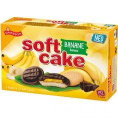 Griesson Soft Cake Banane 24er Snack Recipes, Snacks, Kakao, Cereal, Chips, Sweets, Breakfast, Food, Chocolates