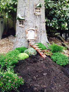 Ein-de-lijk het begin van mijn boomhuisje !