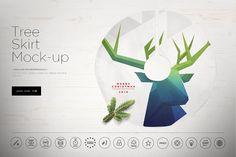 Tree Skirt Mock-up by dennysmockups on @creativemarket
