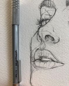 Love the rawness of ghis. love the rawness of ghis illustration sketches, drawing sketches, portrait sketches, sketch art Art Drawings Sketches, Easy Drawings, Pencil Drawings, Drawing Art, Drawing Ideas, Drawing Tips, Drawing Faces, Sketch Drawing, Nose Drawing