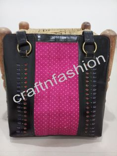 Indian Designer Leather Handbag For Ladies Leather Shoulder Bag, Leather Bag, Fringe Handbags, Designer Leather Handbags, Indian Fabric, Mirror Work, Indian Ethnic, Fashion Bags, Chanel