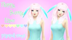 """pastel-sims: """" Floppy Bunny Ears! ♥ Cute floppy bunny ears !!! ♥ :) • Disabled for random. • Recoloring/Retexturing/Converting allowed (Please give me credit and tag me!) • Comes in colors shown above & more. • Female teen - elder • Found under..."""