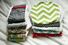 Homemade Burp Clothes (Best Gifts for a Baby Shower)