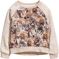 Sweatshirt with Printed Design $12.95 ($13) ❤ liked on Polyvore featuring tops, hoodies, sweatshirts, girls, print sweatshirt, long sleeve tops, patterned tops, patterned sweatshirt and long sleeve sweatshirts