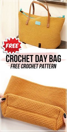 Crochet bags purses 487655465901187799 - Crochet Day Bag free pattern – easy crochet bag pattern for beginners Source by graultclaude Free Crochet Bag, Crochet Market Bag, Crochet Bags, Crocheted Purses, Crochet Pouch, Crochet Baskets, Crochet Designs, Crochet Patterns, Crochet Clutch Pattern