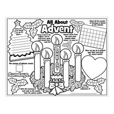"""Paper Color Your Own """"All About the Advent"""" Posters - OrientalTrading.com"""