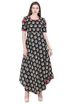 AnjuShree Choice Women Stitched Cotton Printed Anarkali Kurti Kurta / Kurtis for women (XXL - 44): Amazon.in: Clothing & Accessories