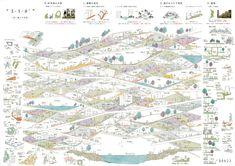 学生 建築 コンペ - Google 検索 Architecture Panel, Architecture Graphics, Architecture Drawings, Architecture Design, Japan Design, Landscape Diagram, Landscape Design, Map Diagram, World Map Decor