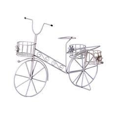 Bicicleta de Jardim Arte em Ferro. Decore com requinte e muito bom gosto. Essa bicicleta vai revalorizar seu plano decorativo enfeitando seu jardim.