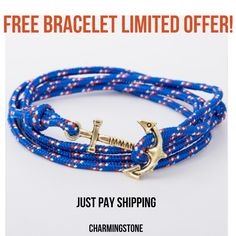 FREE Bracelets just pay shipping  https://charmingstonejewels.com/products/free-anchor-bracelet