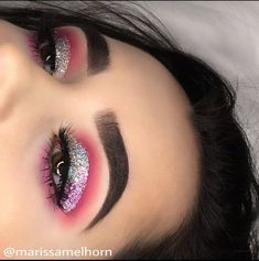 pink glitter cut crease - Prom Makeup For Brown Eyes Eye Makeup Tips, Smokey Eye Makeup, Makeup Goals, Makeup Inspo, Makeup Inspiration, Beauty Makeup, Smoky Eye, Makeup Ideas, Nice Makeup