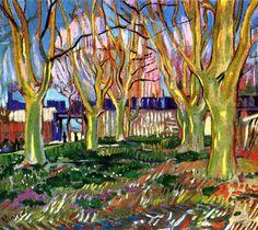 Vincent van Gogh: Avenue of Plane Trees near Arles Station