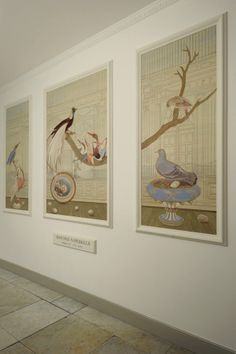 """MURAL - Triptych; """"Histoire Naturelle III"""" - Third of the five new painted panels for the entrance of a 1791 urban Palazzo on the Amsterdam Canals, once residence of Charles François Lebrun, Napoleons gouverneur to the Netherlands - Peter Korver 