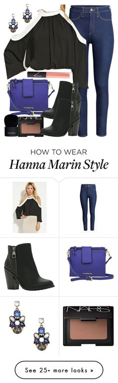 """""""Hanna Marin inspired outfit"""" by liarsstyle on Polyvore featuring H&M, Forever 21, Liz Claiborne, NARS Cosmetics, Call it SPRING, Givenchy, women's clothing, women, female and woman"""