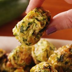 We love to skip the gluten and use zucchini instead This might be favorite one yet Get the recipe at delish easy recipe zucchini tatertots glutenfree keto snacks glutenfreetatertots ketotatertots Fun Easy Recipes, Keto Recipes, Easy Meals, Cooking Recipes, Healthy Recipes, Loaf Recipes, Appetizer Recipes, Snack Recipes, Dinner Recipes