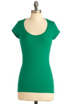 Learn the Basics Top in Green, #ModCloth