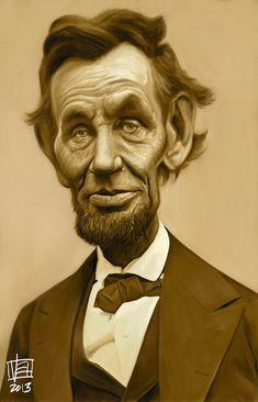 Caricatura de Abraham Lincoln.