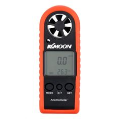 KKmoon Portable Mini Professional LCD Digital Anemometer Wind Speed/Air Velocity/Air Temperature Test Tool