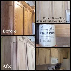 Kitchen cabinets with ASCP.