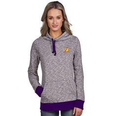 Los Angeles Lakers Antigua Women's Swift Cowl Neck Pullover Hoodie - Purple