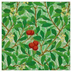 William Morris Lychee Tree Pattern, Light Green Fabric