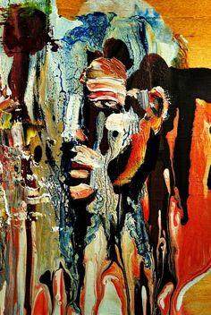 Valentino Quijano - Abstract Portrait technique inspiration