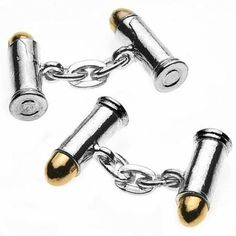 Bullet Cufflinks. The ultimate gift - from a collectable range of sporting silver plate chain link cuff links. $24.37