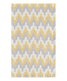 Look at this Yellow Surge Rug on #zulily today!
