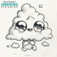 Cloudy Kid! ☁️ #morningscribbles   par CHRIS RYNIAK