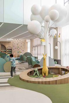 Kindergarten Interior, Kindergarten Design, Children's Clinic, Daycare Design, Interior Architecture, Interior Design, Kids Library, Hospital Design, Playground Design