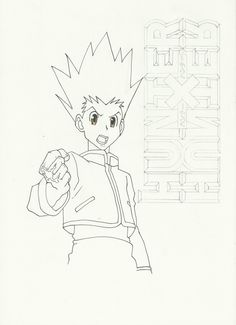 this is the original gon's picture that i've draw at first ^^