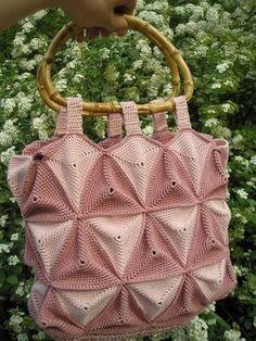 Triangles #Crochet #Tote: chart