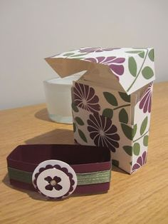 CraftyCarolineCreates: Flip top 3 x 3 card gift box tutorial, handmade with Crazy About You from Stampin' Up UK