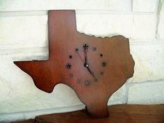 Texas Shaped Wall Clock!