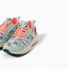 Dê #corda às #sapatilhas: O #calçado #perfeito para #correr | #running #zara #SAPATILHA #ESTAMPADO #GELADOS