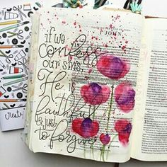 Bible Journaling Jesus Is Alive, Bible Study Journal, Art Journaling, Bible Doodling, Get My Life Together, Bible Illustrations, Lord Is My Shepherd, Art Journal Inspiration, Journal Ideas