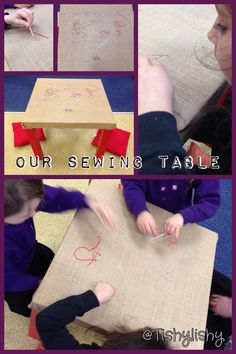 New Sewing Table Cloth Link Ideas Eyfs Activities, Motor Activities, Sewing Projects For Kids, Sewing For Kids, Eyfs Classroom, Classroom Ideas, Finger Gym, Early Years Classroom, Funky Fingers