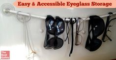 Easy DIY project: Eyeglass storage you can make in about 10 minutes -- keep your sunglasses right by the companionway!