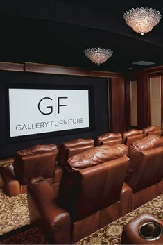 Merveilleux Invest In A Brand New, 100% Top Grain Leather Home Theater Seating Set From Gallery  Furniture And Transform The Way You Relax In Your Home!