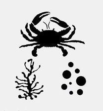 "CRAB STENCIL SEAWEED MARINE ALGAE STENCILS BUBBLES TEMPLATE CRAFT NEW 8"" X 10"""