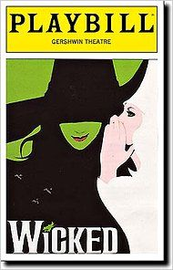 "The Playbill for ""Wicked"" at the Gershwin Theater #musical"