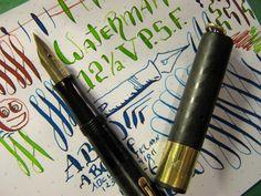 Waterman FLex 12 1/2 V PSF Fountain Pen BCHR NEW SAC vtg 14k Gold Ideal Nib 52 G #Waterman